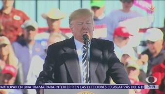 Trump afirma que México frenó a la caravana migrante
