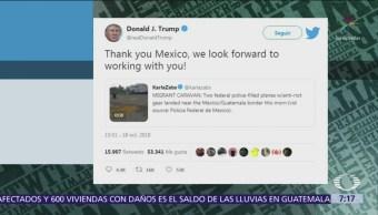 Trump agradece a México por respuesta a caravana de migrantes