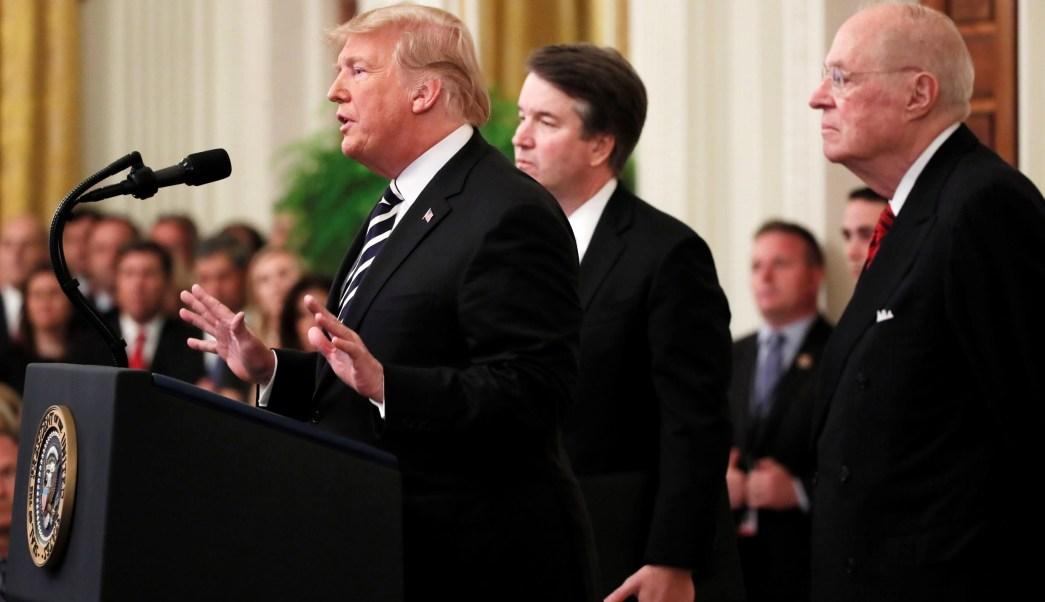 Se demostró la inocencia de Kavanaugh, defiende Donald Trump