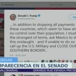 Trump podría cerrar frontera con México si no detienen a Caravana de Migrantes