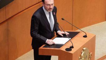 Canciller Luis Videgaray comparece ante Senado