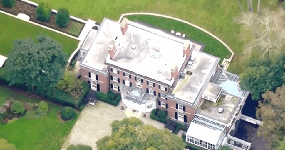 Vista aérea de la residencia de George Soros en NY. (Reuters)