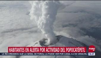 Vivir en alerta cerca del Popocatépetl
