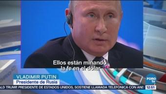 Vladimir Putin critica estrategia monetaria de EU