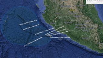 depresion tropical tormentas michoacan colima