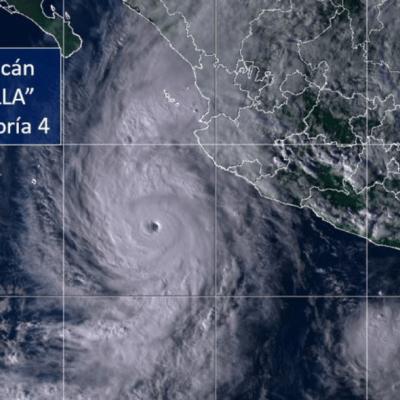 Huracán 'Willa' se fortalece a categoría 4 en su avance hacia México
