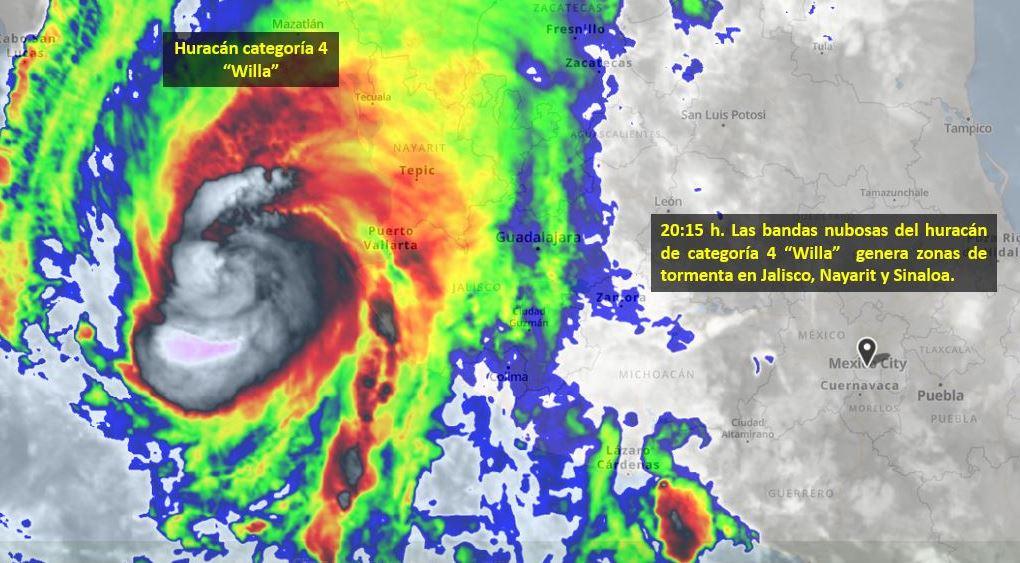 'Willa' impactará en México este martes asegura Conagua