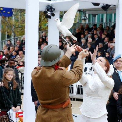 Comienza la ceremonia en recuerdo del armisticio de la Primera Guerra Mundial