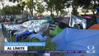 3 mil migrantes se concentran en albergue 'Benito Juárez' de Tijuana