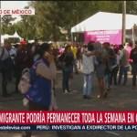 centroamericanos miembros de caravana migrante