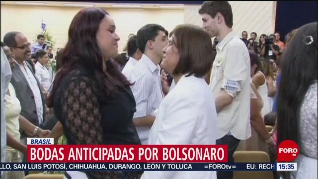 Parejas homosexuales adelantan bodas ante cambio de gobierno en Brasil