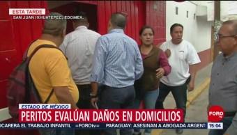 Peritos evalúan daños en domicilios de San Juan Ixhuatepec