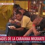 Actividades de la Caravana Migrante en la CDMX