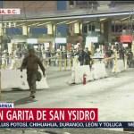 Al menos 300 policías de Estados Unidos vigilan garita San Ysidro