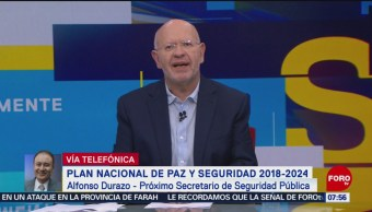 Alfonso Durazo: Guardia Nacional estará conformada por policías con disciplina militar