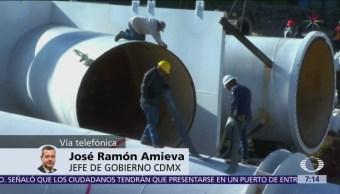 Amieva: Suministro de agua CDMX podría normalizarse el 3 de noviembre