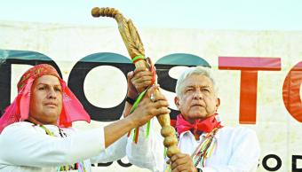 AMLO primer presidente que recibirá Bastón de Mando indígena