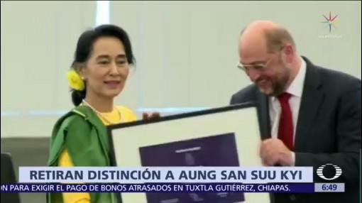 Amnistía Internacional retira distinción a Aung San Suu Kyi