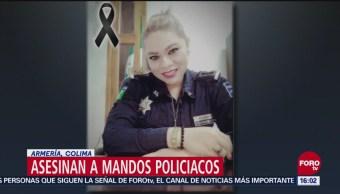 Asesinan a mandos policiacos en Armería, Colima