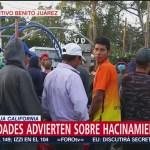 Autoridades de Tijuana advierten por hacinamiento de migrantes