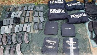 Autoridades repelen agresión y aseguran arsenal en Petatlán