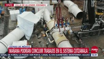 Avanzan trabajos de mantenimiento del Sistema Cutzamala sin contratiempos