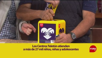 Boteo Teletón en Matutino Express