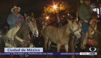 Cabalgata sale de Iztapalapa rumbo a la Basílica de Guadalupe