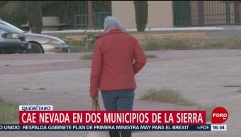 Cae nieve en municipios de Querétaro