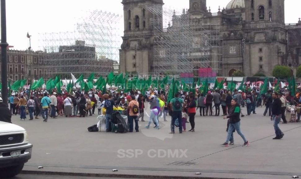 Campesinos llegan al Zócalo de la CDMX