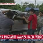 Caravana migrante avanza hacia Veracruz