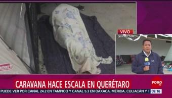 Caravana Migrante Hace Escala Querétaro Grupo De Integrantes