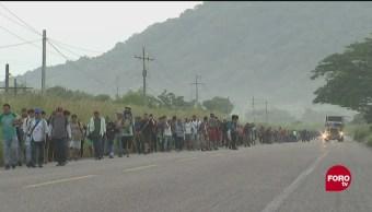 Caravana procedente de El Salvador llega a Oaxaca
