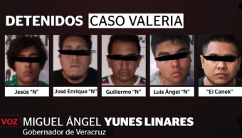 Caso Valeria Medel: Ellos son los cinco detenidos por el asesinato de la hija de la diputada de Morena