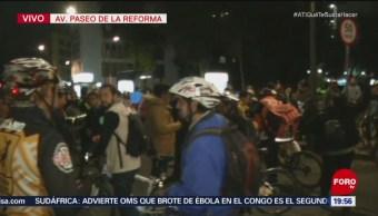 Cdmx Realizan Protesta Muerte Ciclista Repartidor