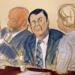 Joaquín 'El Chapo' Guzmán durante su juicio en una corte de Nueva York