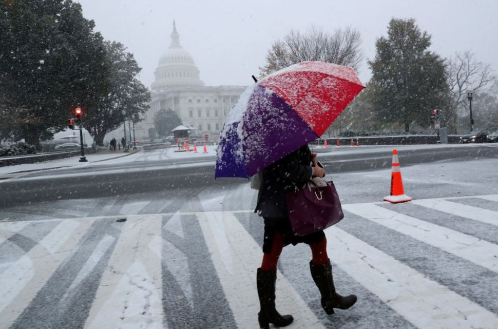 La nieve y el hielo se dirigen hacia el este de Estados Unidos. (Reuters)