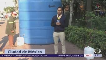 Comerciantes de la alcaldía Cuauhtémoc reportan pérdidas por falta de agua