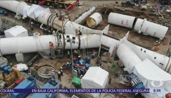 Conagua trabaja para corregir desplazamiento en pieza del Sistema Cutzamala