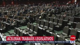 Congreso De La Unión Acelera Trabajos Legislativos