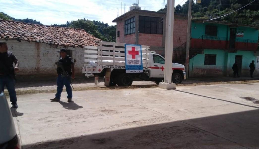 Balacera en Taxco deja tres policías y un voluntario de la Cruz Roja muertos