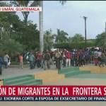 Cuarta caravana migrante aguarda para entrar a México