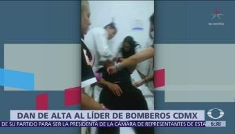 Dan de alta a líder sindical de Bomberos, baleado en CDMX