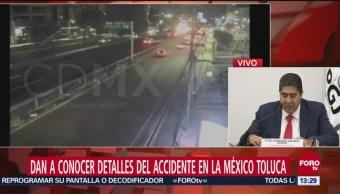 Dan detalles del accidente en la autopista México-Toluca