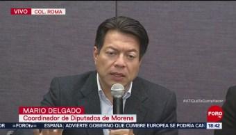 Delgado y Monreal anuncian recorte al presupuesto de diputados y senadores