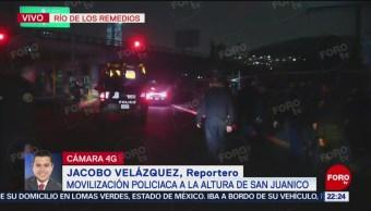 Detienen a 4 personas por robo en Río de los Remedios en CDMX