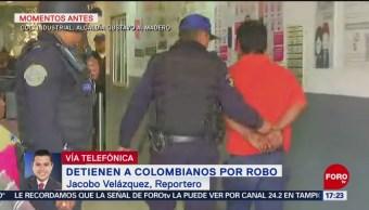 Detienen a colombianos por robo en la GAM