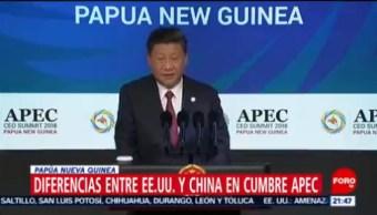 Diferencias entre Estados Unidos y China en cumbre APEC