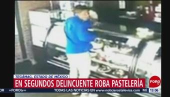 Difunden video de robo en una pastelería del Estado de México