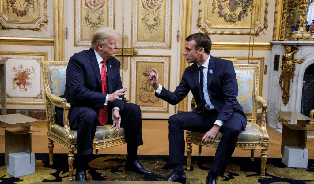 Trump ataca a Macron por sus bajos niveles de popularidad